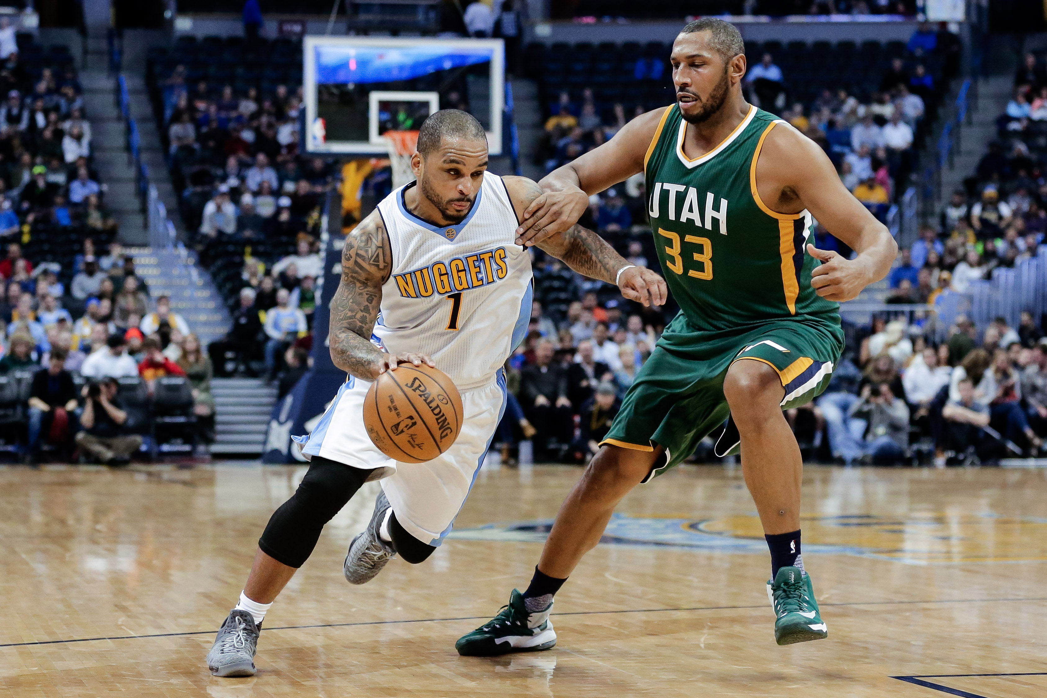 Jameer Nelson showed up for the Nug s in their last game
